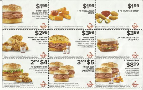 ARBYS MOBILE COUPONS