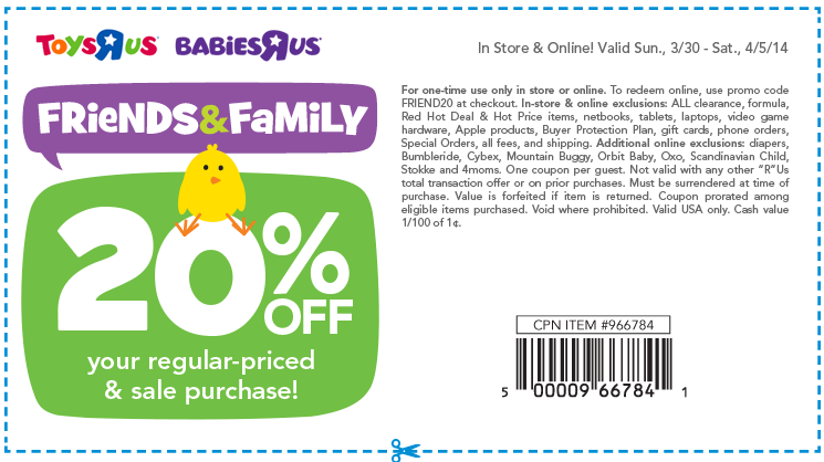 Babies r us printable coupons 20 off