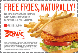 photograph relating to Sonic Printable Coupon titled Sonic discount codes printable vaniqa 13 9 product coupon