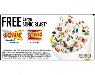 Free sonic coupons