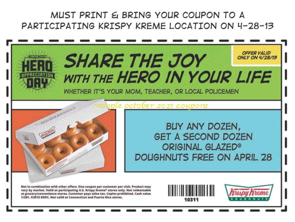 It is an image of Versatile Printable Krispy Kreme Coupons 2020