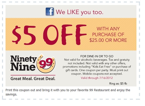 99 coupons restaurant printable coupons online