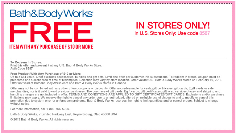 Bath and body works promotion code