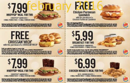 Burger King Coupons 2016 Printable Coupons Online