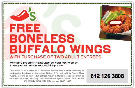 Chili's mobile coupons