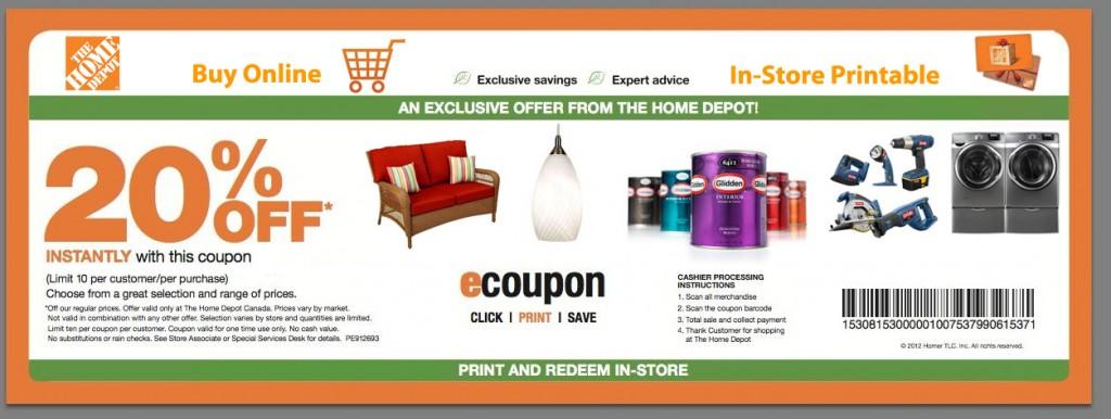 home depot coupons printable mobile san. Black Bedroom Furniture Sets. Home Design Ideas