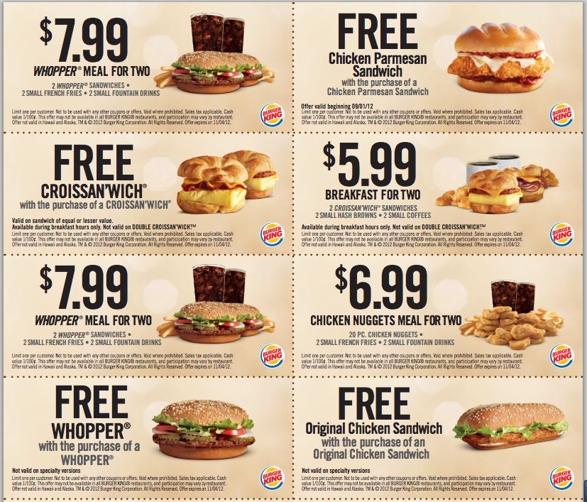 Free Restaurant Food Coupons Online