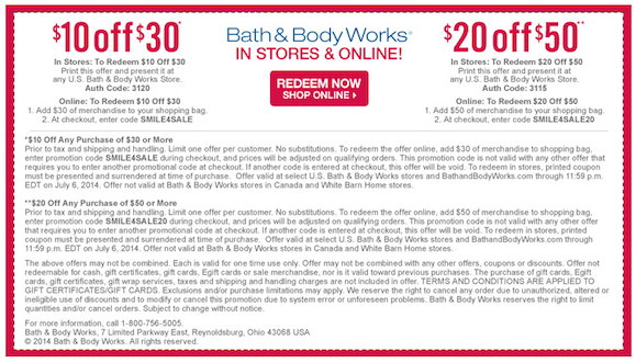 Bath And Body Works Coupons Codes Printable Vouchers (1)  Printable Vouchers
