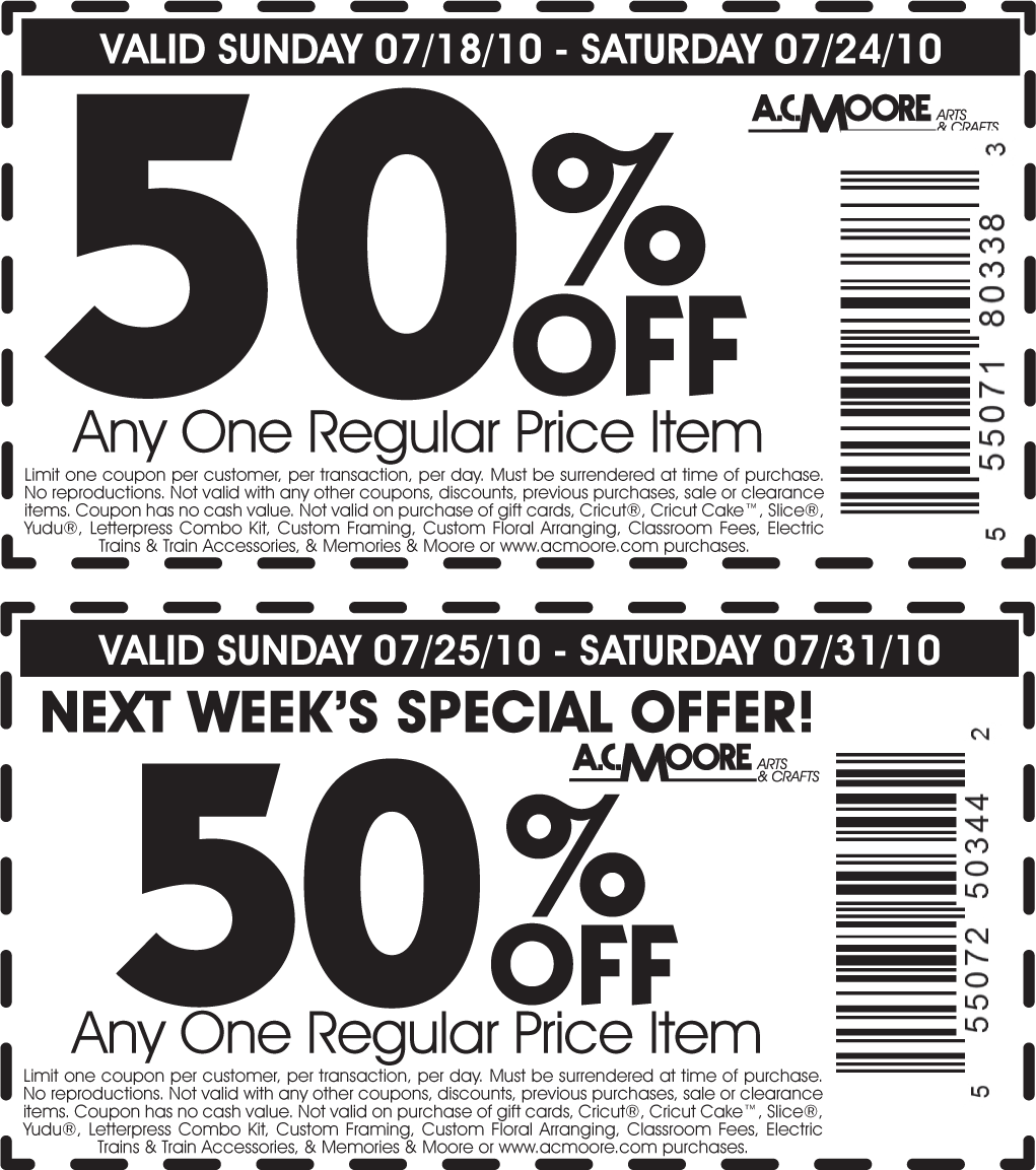 image about Ac Moore Printable Coupon identified as ac moore discount coupons upon telephone-cell-retail (1) Printable