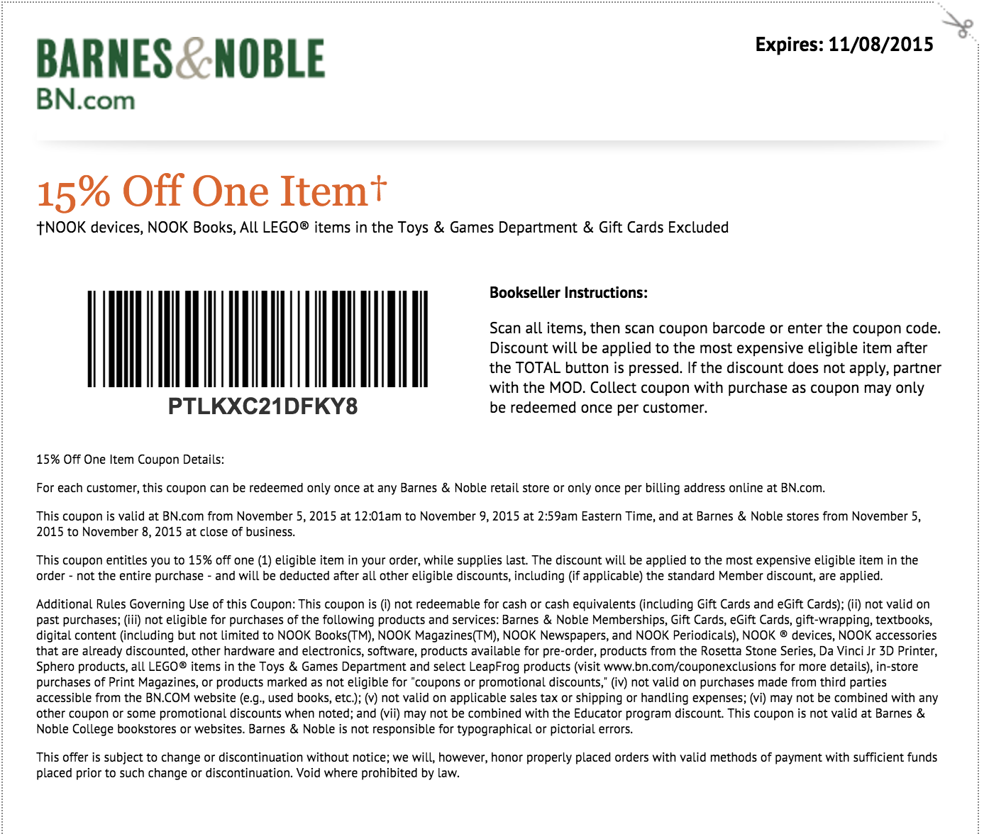 Barnes and noble coupon codes 2018