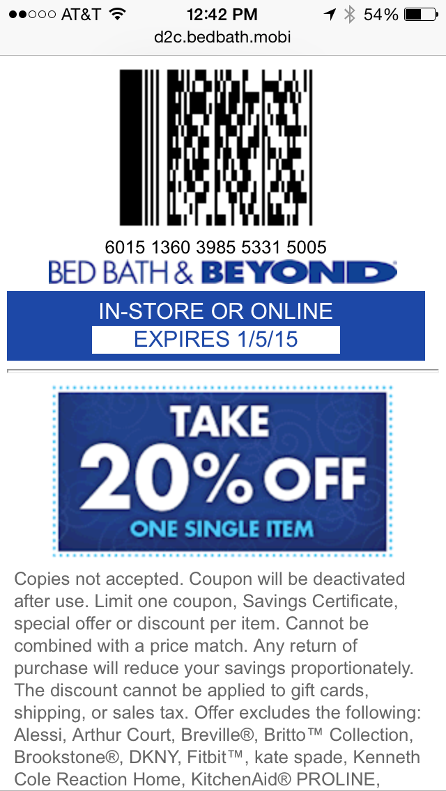 BBB 20 OFF Coupons Bed Bath. 20 OFF Coupons Bed Bath