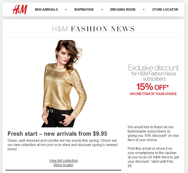 H&M also regularly releases discount codes online, so make sure you keep an eye out for some bargains from them. Ordering Products from H&M Online To shop at H&M.
