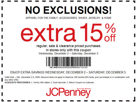 Free Jcpenney Printable Coupons