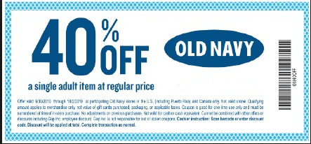 old navy coupon 40 off coupons examples retail