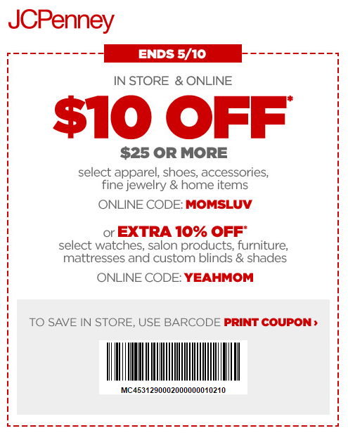 Online Jcpenney Printable Coupons
