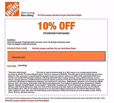Home depot project coupons