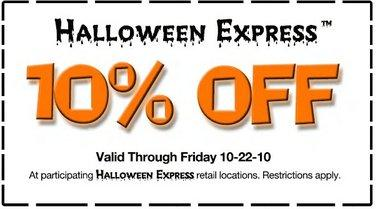 photo relating to Halloween Express Printable Coupon identify Halloween Convey Coupon codes Printable Discount coupons On the web