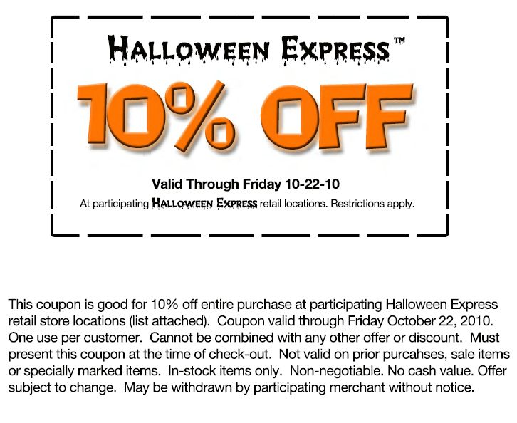 picture regarding Halloween Express Printable Coupon named Halloween Printable Discount codes Focus Printable Discount coupons On line