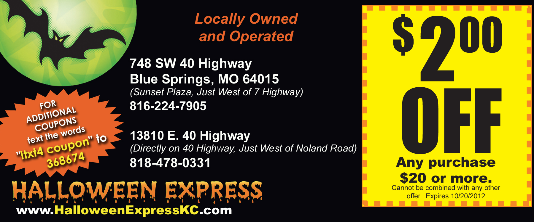 Online Halloween Express Coupons