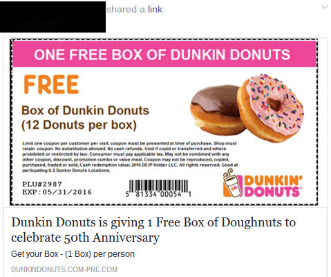donut dunkin donuts printable coupons