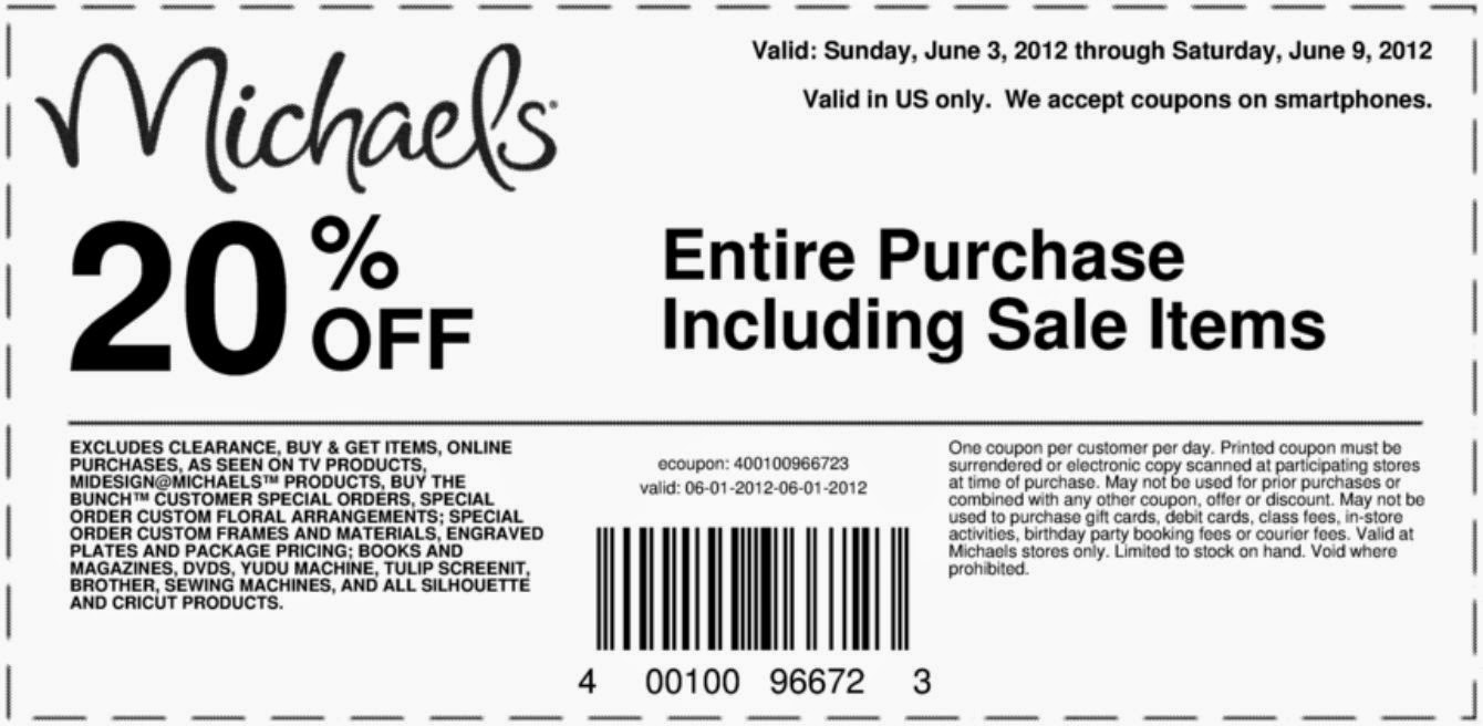 michaels free printable coupons