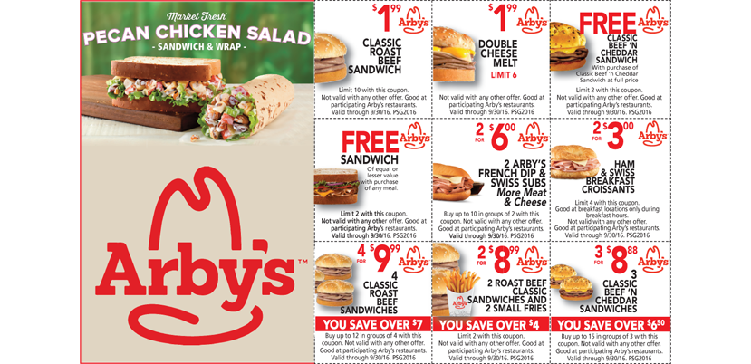 Arbys coupons discounts