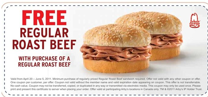 image about Arbys Coupons Printable known as oct-united states of america-arbys-discount codes-bogo Printable Coupon codes On-line