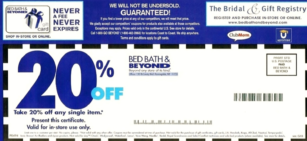 Bed Bath And Beyond Coupon United States