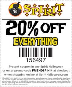 Coupon spirit halloween 20 percent off - Sunfrog t shirts coupon code