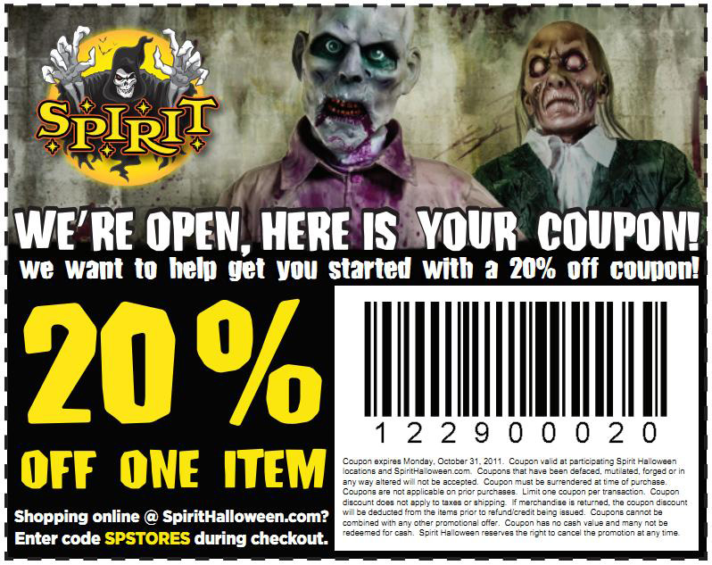 Spirit Halloween Discount Coupons | Printable Coupons Online