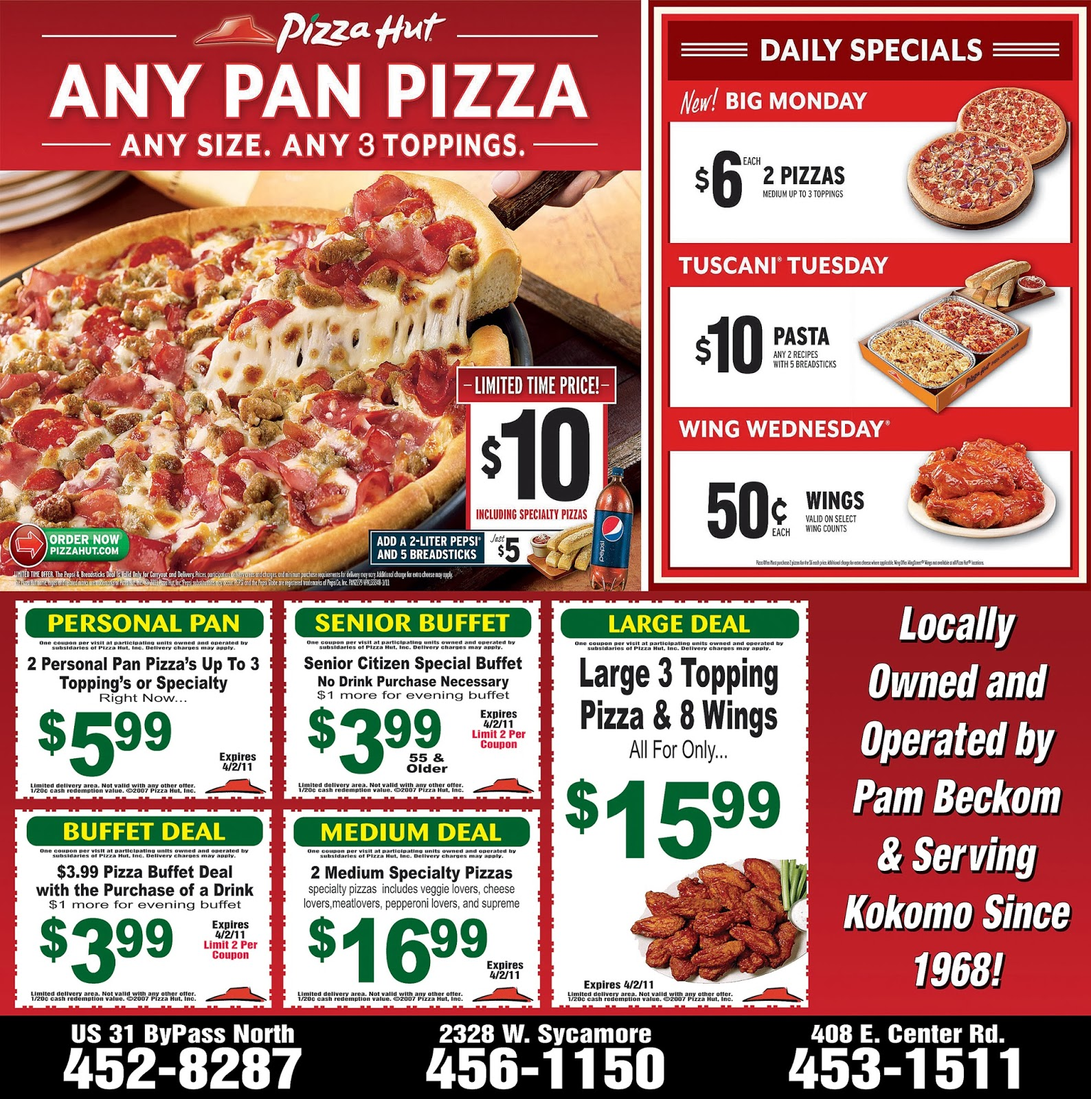 Today's best Coupons: Save with Deals from Pizza Hut. 16 Pizza Hut Specials for Order Online · Credit Cards · Great Restaurants · Military Discount/10 (9, reviews)10,+ followers on Twitter.
