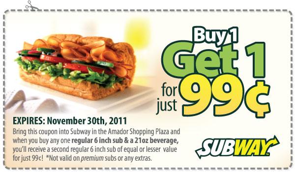 99 Off Subway Coupon Codes