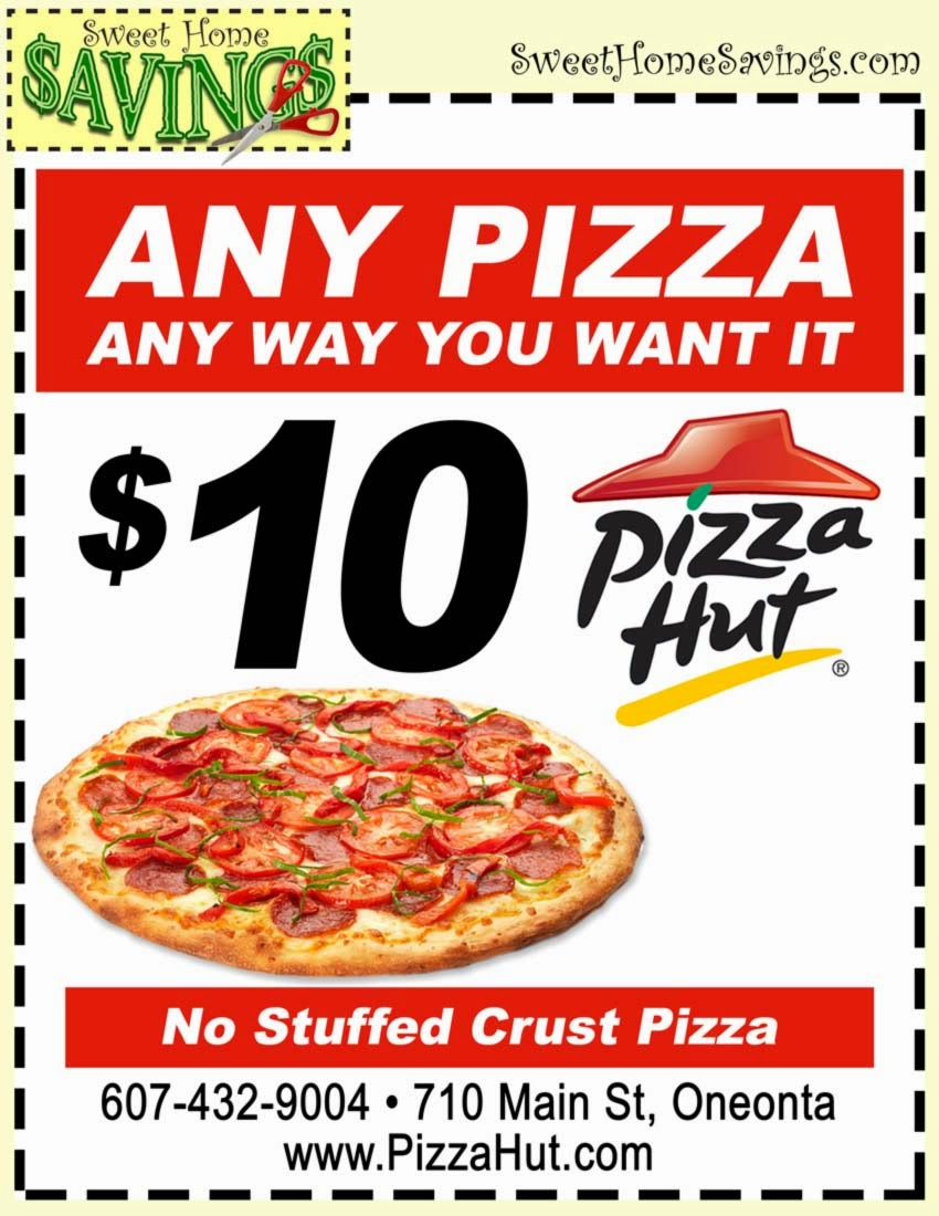Never miss another coupon. Be the first to learn about new coupons and deals for popular brands like Pizza Hut with the Coupon Sherpa weekly newsletters.