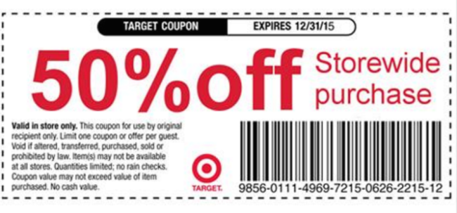free printable target coupons in store