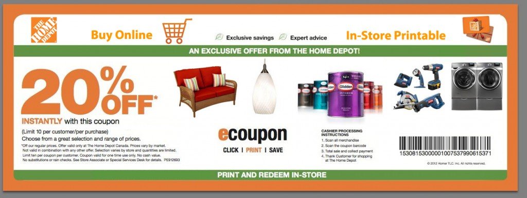 home depot coupon code december 2019