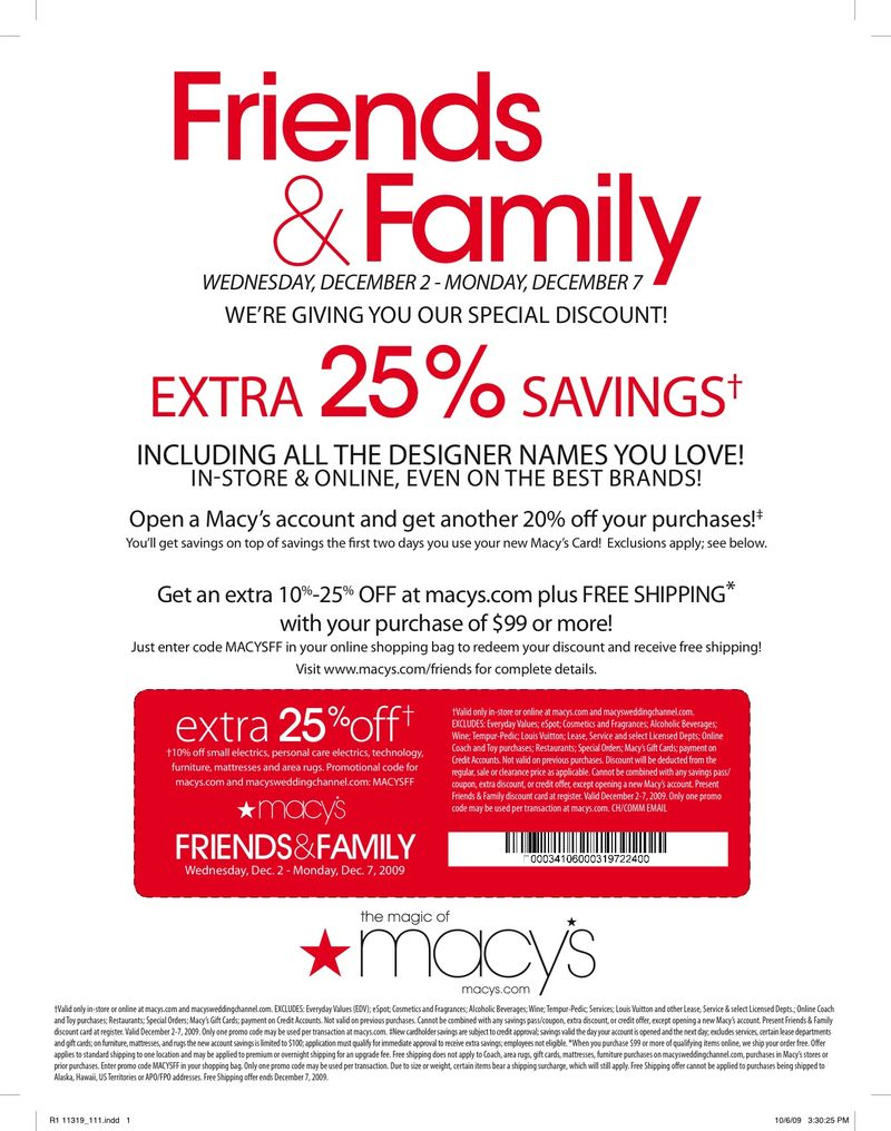 Macys coupon code today