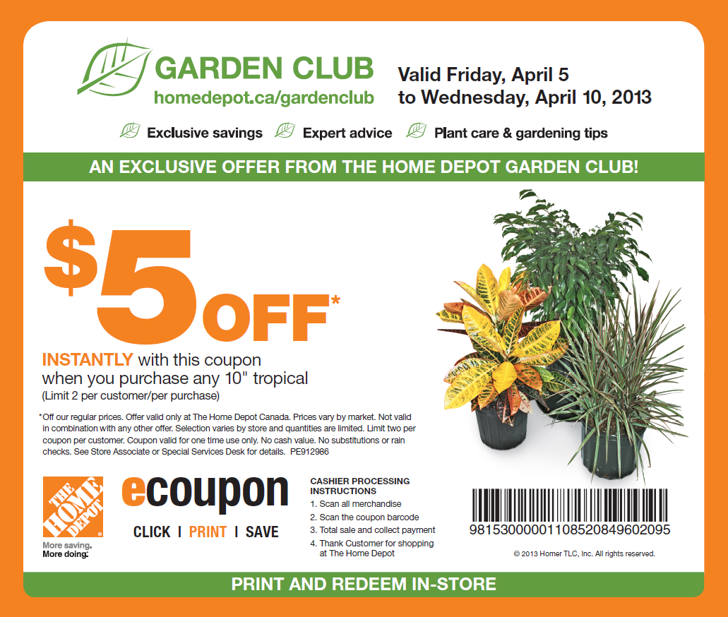 Home depot discount coupons 20