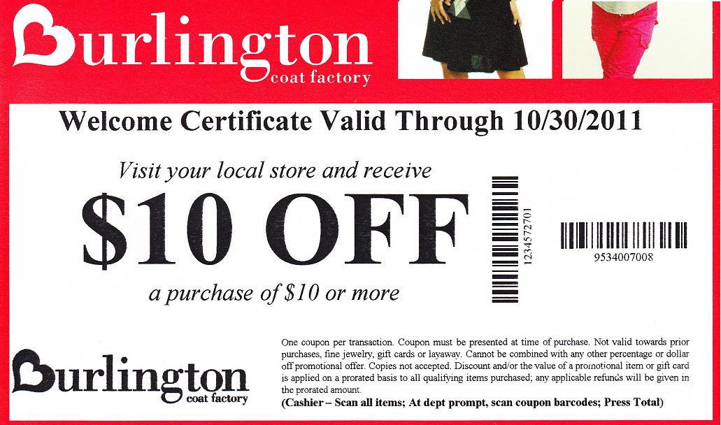 Burlington coat factory 20 off coupon email