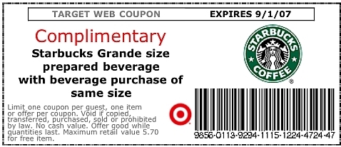 photo about Starbucks Printable Coupon called Starbucks Printable Discount codes Printable Discount coupons On the web