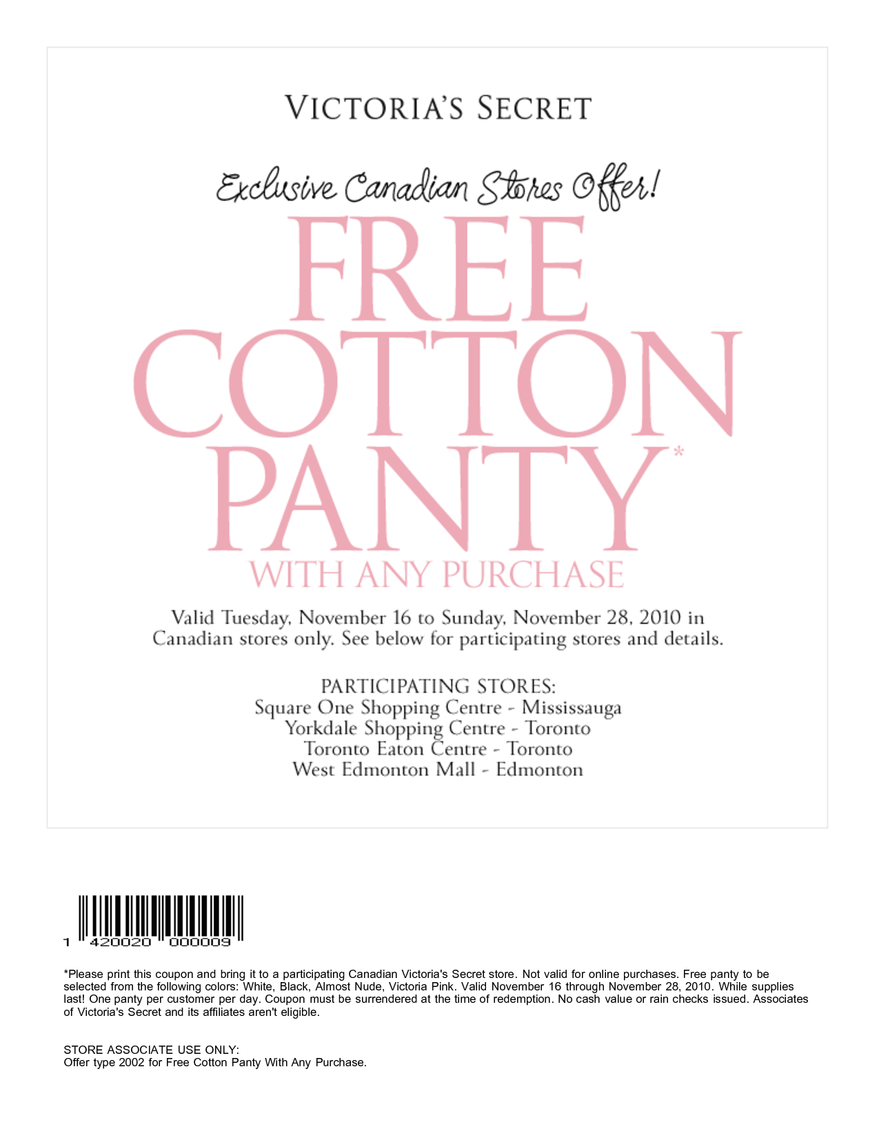 Victoria secret free shipping coupon code