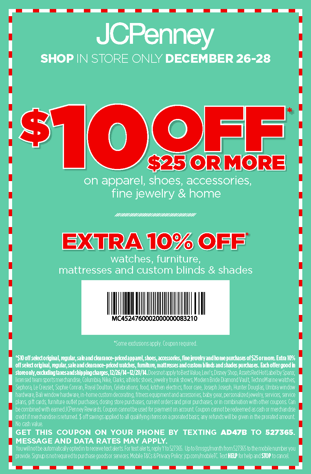 10-off-code-JCPenney-Coupons-codes-weekend