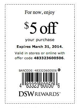 5-off-all-in-store-purchases-DSW-Coupons