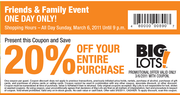 big lots printable coupon march 2019
