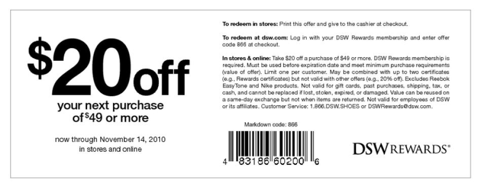 dsw-coupon-mobile-codes