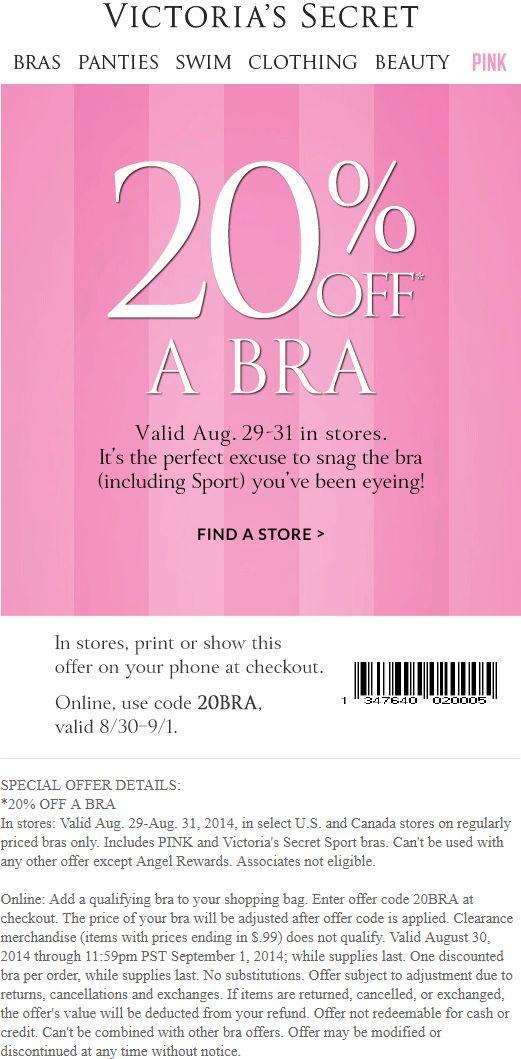 feb-Victoria's Secret discount promo