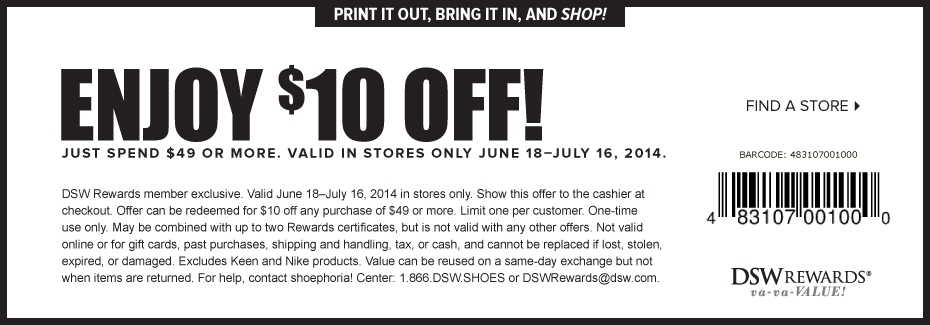 dsw 15 off coupon