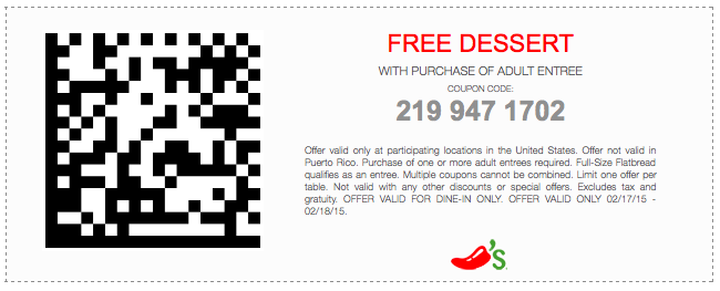 graphic relating to Chilis Printable Coupon named Chilis Discount coupons Web page Printable Discount coupons On the net