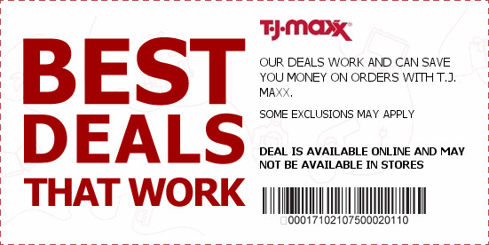 coupons for tj maxx online