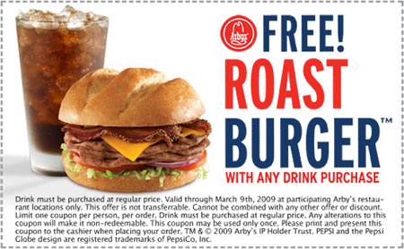 Arbys-Restaurant Coupons-roast-burger
