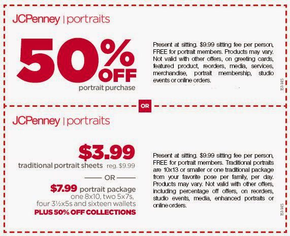 JCPenney Coupon – JCPenney Postrait Coupon